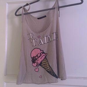 WILDFOX Je'Taime Ice Cream Tank